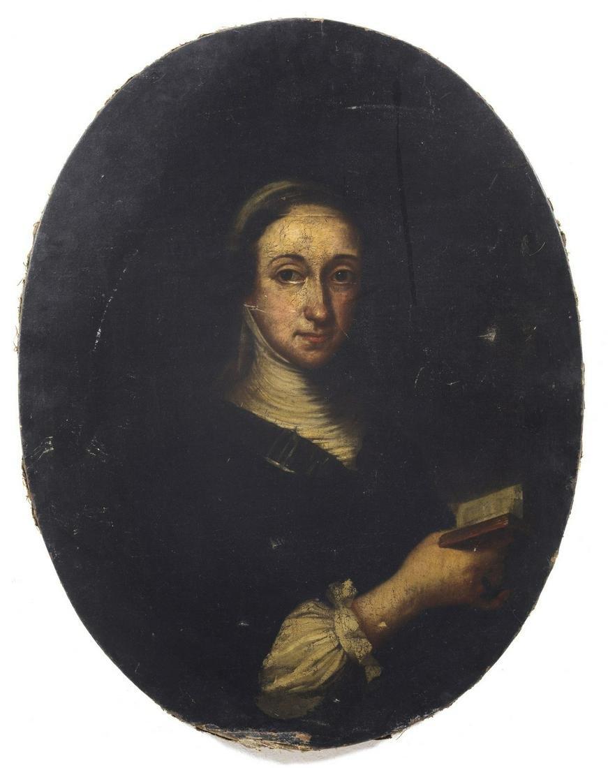 ARTISTA VENETO DEL XVIII SECOLO  Portrait of woman with