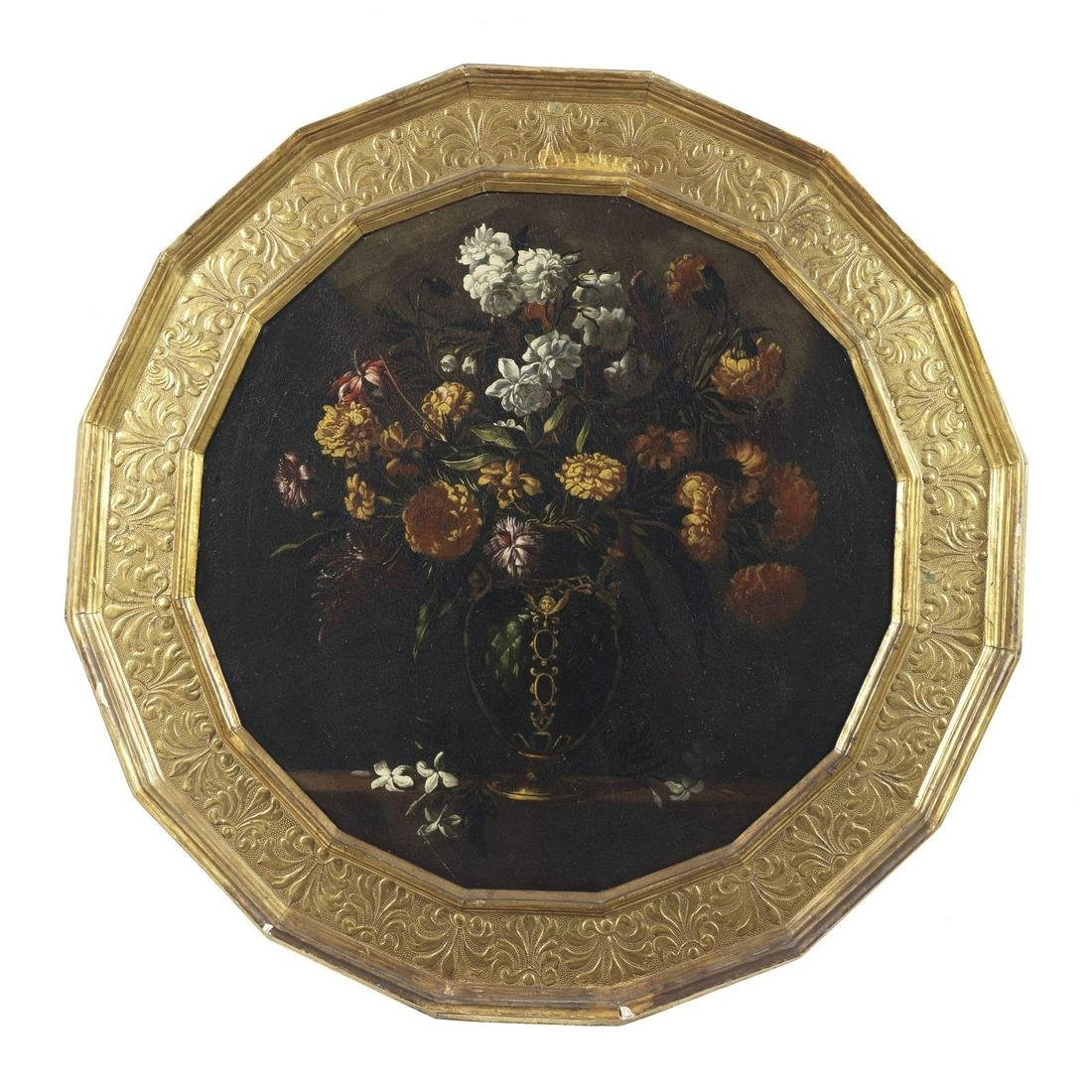 GIACOMO RECCO Attributed to. Still life with flowers.