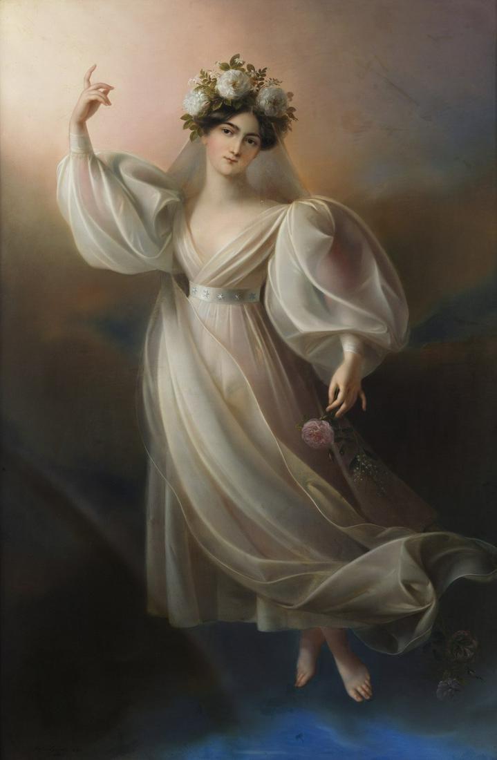 KARL AGRICOLA Portrait of the dancer Fanny Elssler as