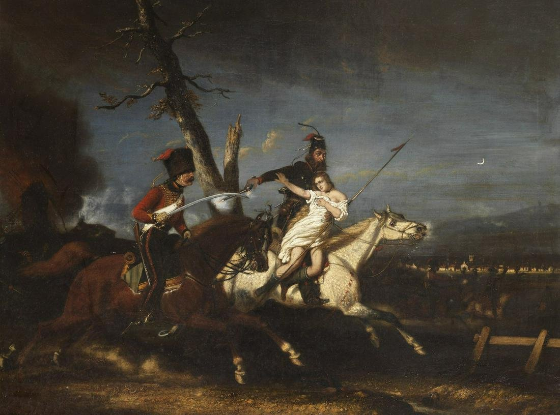 HORACE VERNET  Attributed to. Rape of France. .