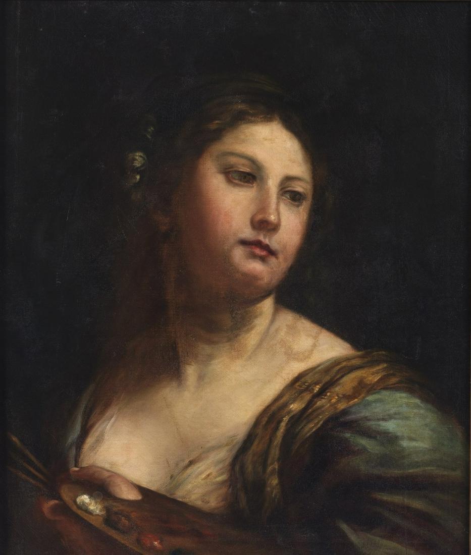 ARTISTA DEL XVIII SECOLO  Portrait of painter woman.