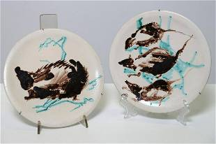 ULRICO SCHETTINI Pair of plates