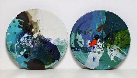 GIOVANNI MATTIO Pair of plates.