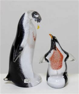 MARCOLIN ART CRYSTAL Pair of penguins