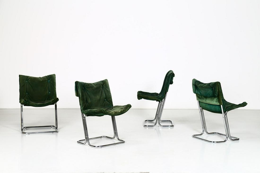 MANIFATTURA ITALIANA  Four chairs.
