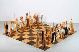 ENRICO BAJ Il gioco degli scacchi. .