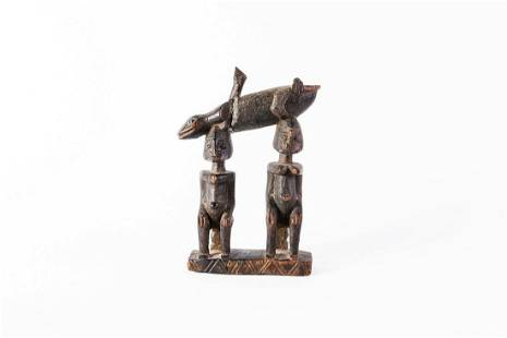 Arte africana Two carved figures DogonMali