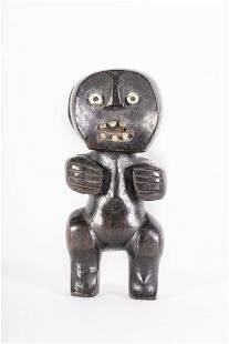Arte africana Figure in ebony and bone