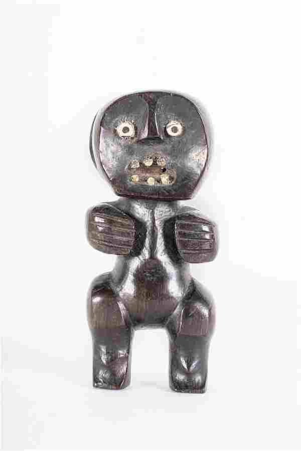 Arte africana Figure in ebony and bone,