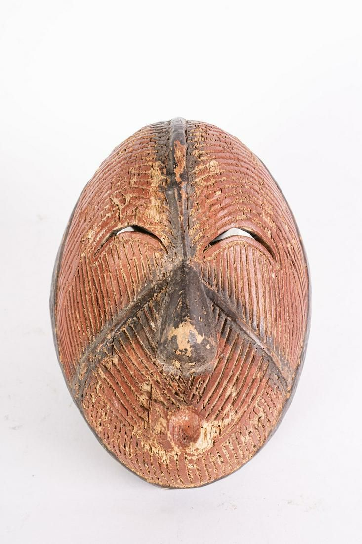 Arte africana Polychrome mask, Northern Igbo
