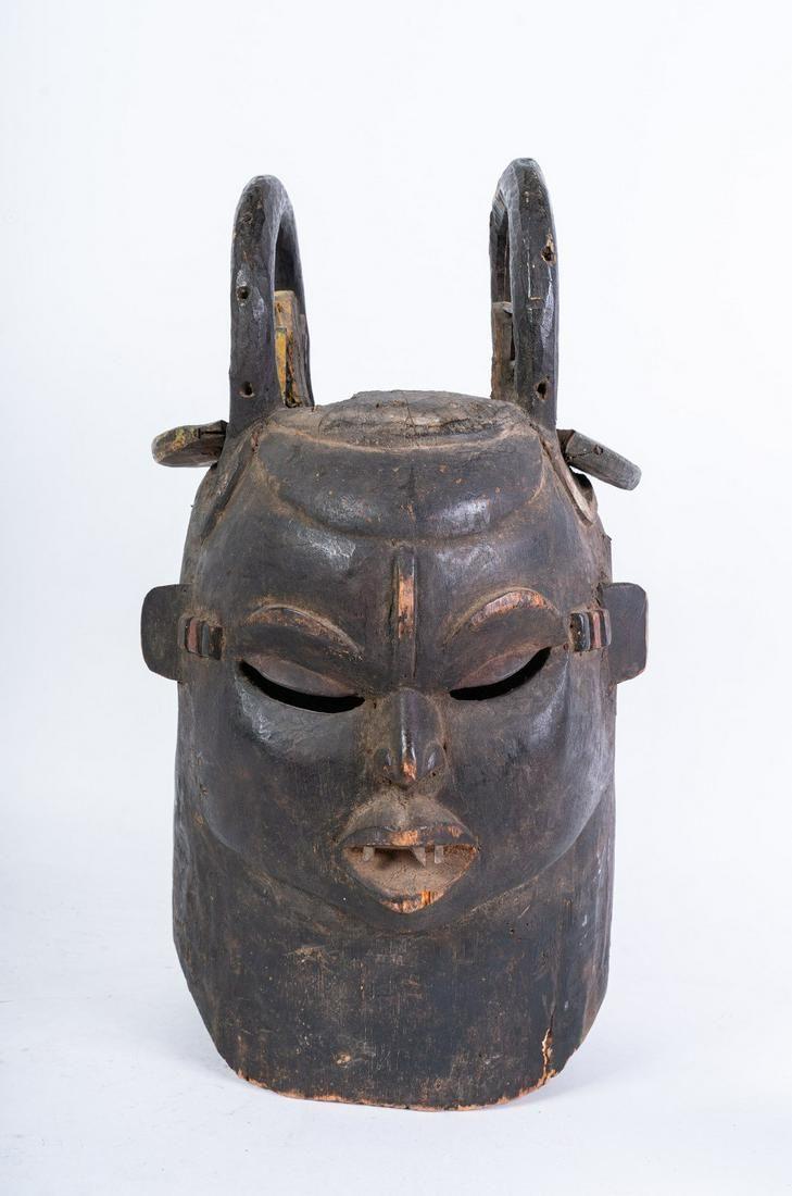 Arte africana Two-faced helmet mask, IgboNigeria.