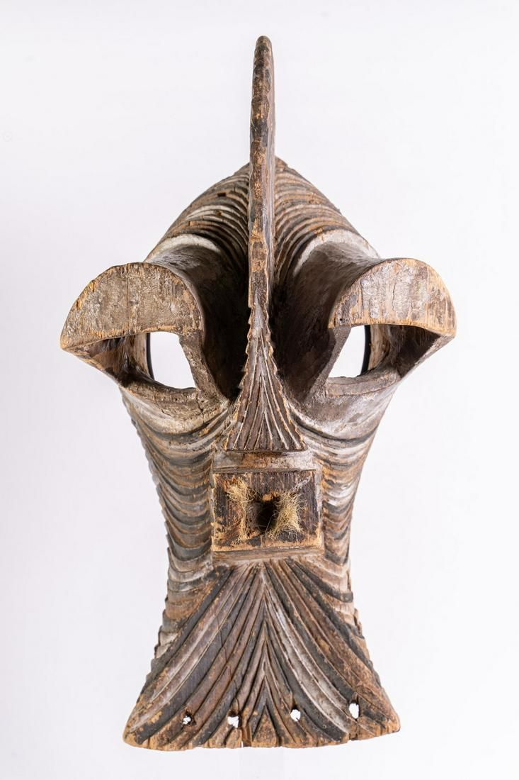 Arte africana Monumental Kifwebe Mask, SongyeD. R. of