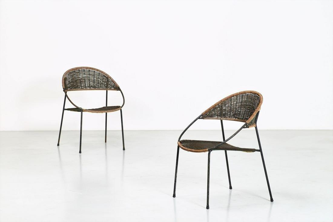 GASTONE RINALDI Pair of chairs (2).