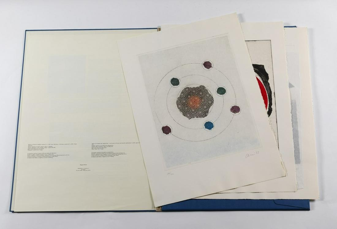 EUGENIO CARMI Lot composed of n.3 sheets. Untitled.