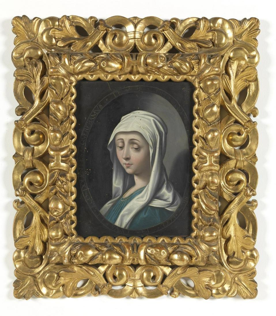 ARTISTA DEL XVII SECOLO  The Sorrowful Virgin.