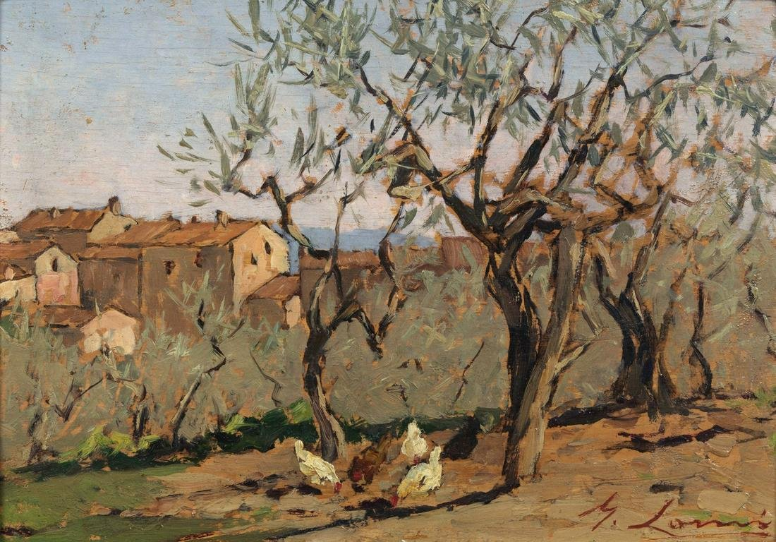 GIOVANNI LOMI Olive trees.