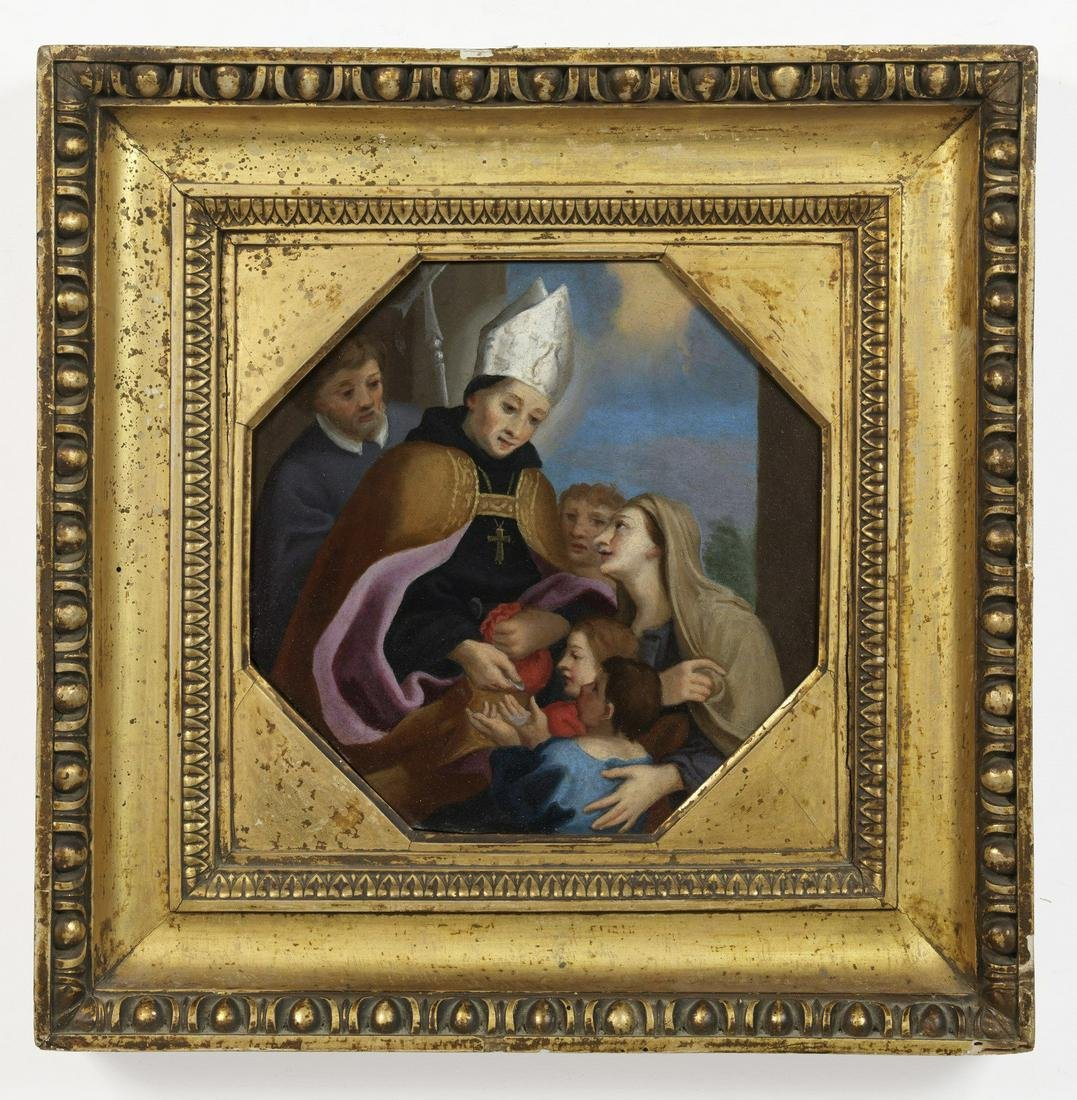 ARTISTA ROMANO DEL XVIII SECOLO  Donation of Saint