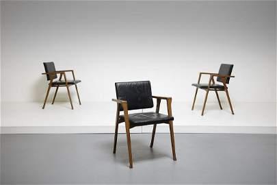 FRANCO ALBINI Three PT1 Luisa armchairs, Poggi