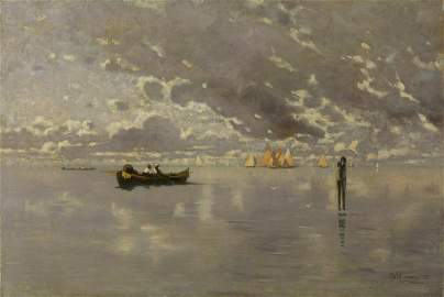 GUGLIELMO CIARDI Fishermen in the lagoon. .