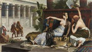 ALEXANDRE CABANEL Cleopatra tasting poisons on
