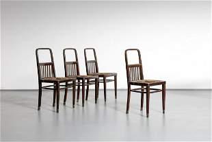 JOSEF HOFFMANN Four chairs, Khon production.