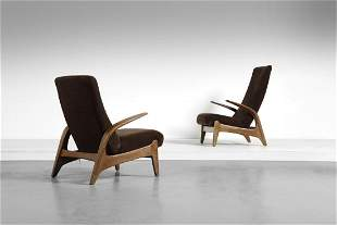 TORBJORN BEKKEN & ADOLF RELLING  Pair of armchairs, for