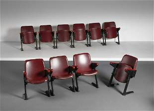GASTONE RINALDI Ten LV4 cinema chairs, Rima production.