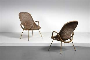 GERVASONI UDINE  Pair of armchairs.
