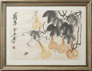 Arte Cinese  A painting in the style of Qi Bai Shi