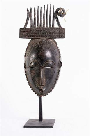Arte africana  Portrait mask, YaureIvory Coast.