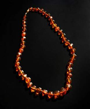 Wunderkammer  An amber necklace Baltic States, 19th
