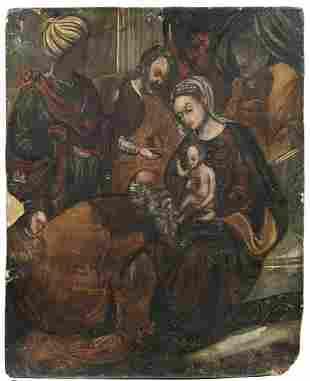 ARTISTA VENETO CRETESE DEL XVI SECOLO Adoration of the