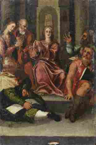 ARTISTA DEL XVI SECOLO Christ among the doctors.