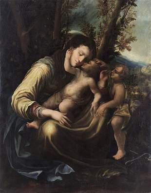 ARTISTA EMILIANO DEL XVI SECOLO Madonna and Child with