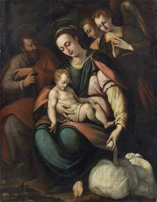 ARTISTA TOSCANO DEL XVI SECOLO Madonna with child,