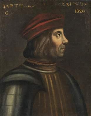 ARTISTA DEL XVI SECOLO Portrait of a man in profile.