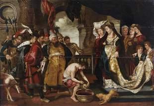 ARTISTA FIAMMINGO DEL XVII SECOLO Herodias before the