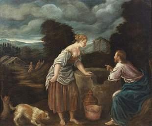 ARTISTA VENETO DEL XVI SECOLO Christ and the Samaritan
