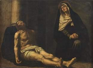 ARTISTA SPAGNOLO DEL XVII SECOLO Pietà .