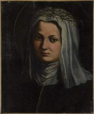 ARTISTA NAPOLETANO DEL XVII SECOLO Saint Catherine of