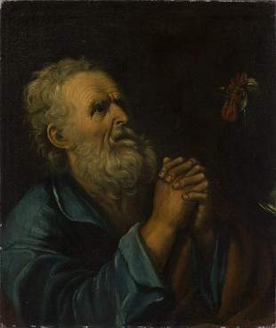 ARTISTA NAPOLETANO DEL XVII SECOLO Saint Peter and the