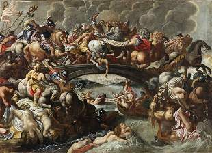 ARTISTA DEL XVII SECOLO Battle of the Amazons.