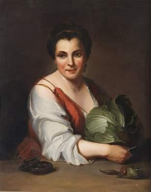 ARTISTA LOMBARDO DEL XVIII SECOLO Portrait of a peasant