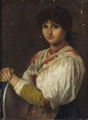 ARTISTA DEL XIX SECOLO Portrait of a commoner woman. .