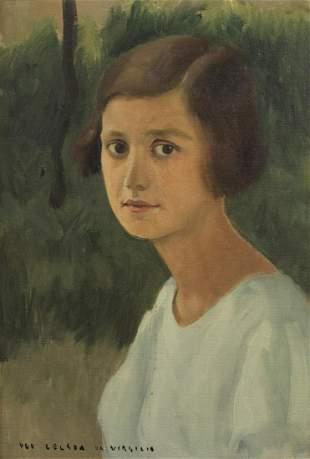 UGO CELADA DA VIRGILIO Portrait of a young woman.
