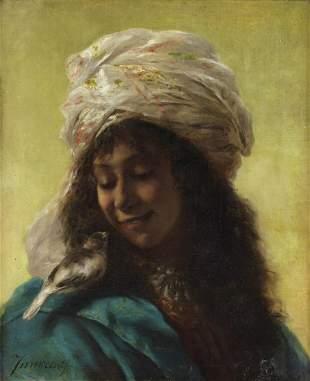 CAMILLO INNOCENTI Portrait of a commoner woman. .