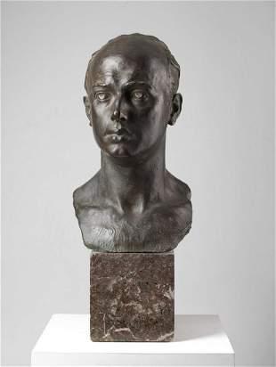 TORQUATO TAMAGNINI Male portrait bust.