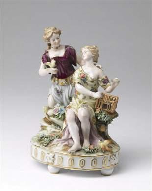 MANIFATTURA VIENNESE DEL XIX SECOLO Porcelain group,