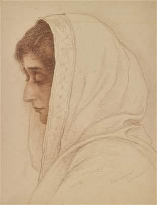 BORIS GEORGIEV Portrait of a woman in profile.