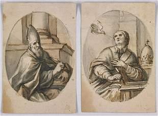 SCUOLA EMILIANA DEL XVII SECOLO Pair of drawings